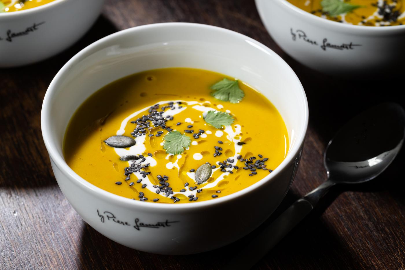 Pumpkin Soup With Lemon Grass And Coriander
