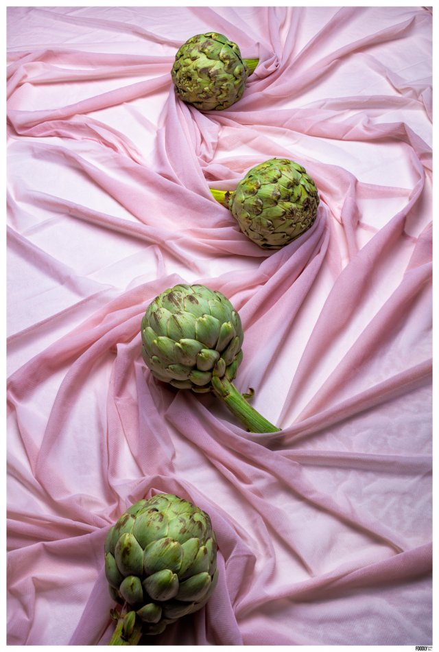 FOODLYDOODLYDOO_ARTICHOKES ON FABRIC_