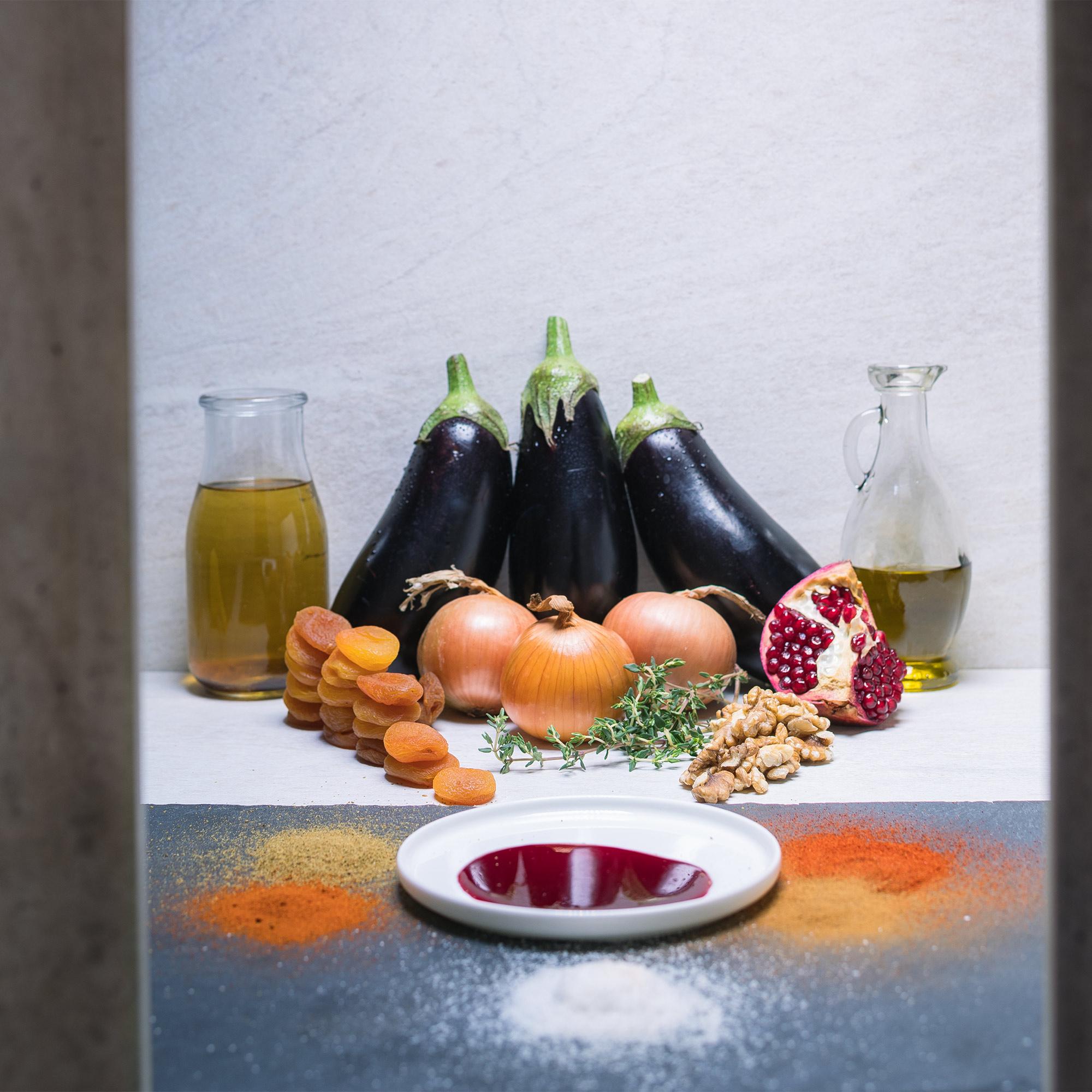 Oriental Aubergine Tagine With Apricot
